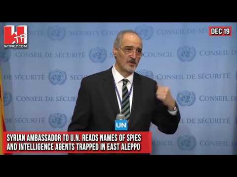 Syrian Ambassador to U.N. Reads Names of Spies and Intellige