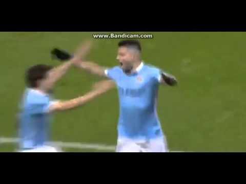 Sergio Kun Aguero Goal 1 3 Manchester City vs Everton  27 01 2016 FA Cup