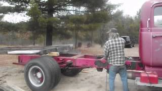 A Man and a Woman and a Ratrod Wrecker Firetruck Flatbed Project, bed instalation
