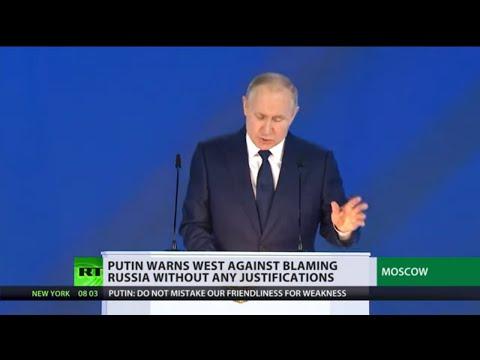 'Russia's response will be asymmetric, swift, & tough' - Putin warns in annual address