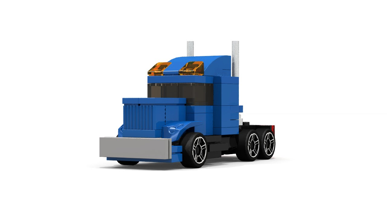 lego mini semi truck instructions youtube. Black Bedroom Furniture Sets. Home Design Ideas