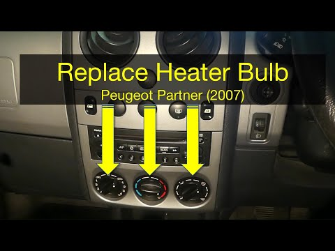 How to replace heater light bulb in Peugeot Partner (or Citroen Berlingo 2001-2010)