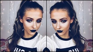 Get Ready With Me! ▷ BLACK LIPS & DUO CHROME EYES