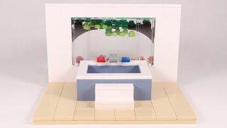 Lego Modern Bathtub With Garden View Moc Speed Build