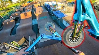 MEGA RAMP CHALLENGE ON CHEAP $1 SCOOTER WHEELS!