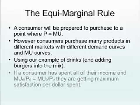 equi marginal principle Write short notes on: a opportunity cost principle b equi-marginal principle  illustrate your answers with examples (a) opportunity cost.