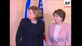 US House of Representatives Speaker meeting Israeli FM, Livni comment