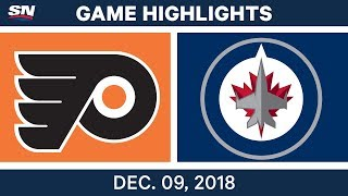 NHL Highlights | Flyers vs. Jets - Dec 9, 2018