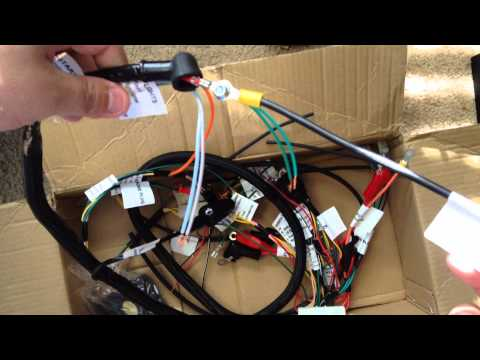 Parts Shop Max Honda Ruckus GY6 150cc Swap Wiring Harness Unboxing