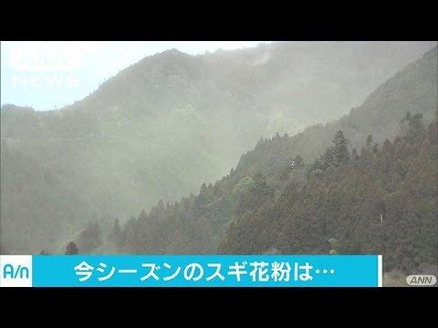花粉飛散は来月中旬から量は例年並み 東京都予測17/01/20