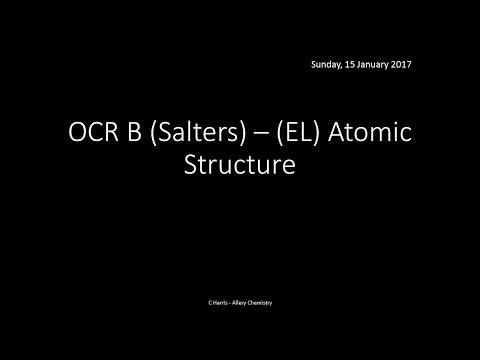 OCR B SALTERS (EL) Atomic Structure REVISION