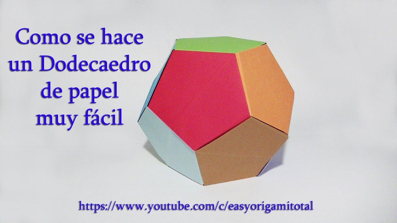 Como hacer un dodecaedro de papel muy f cil dodecaedro - Como hacer jarrones de papel ...