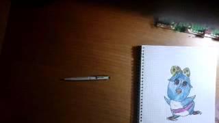 Как нарисовать пингвина ( девочку ) урок 6