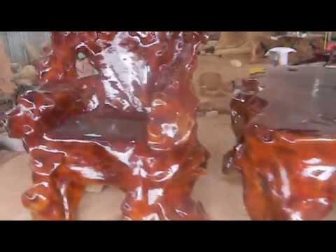 Bộ bàn ghế gốc cây xá xị khũng