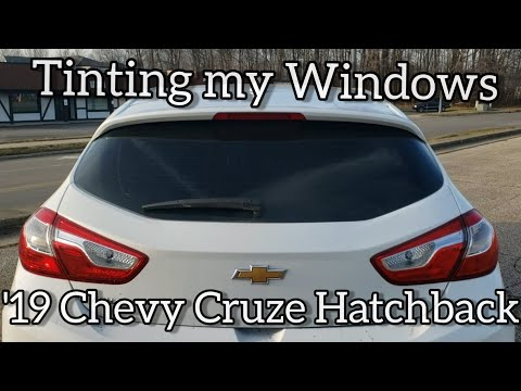 Tinting My Windows On A 2019 Chevy Cruze Hatchback | Chevy Cruze Build | 5% Tint