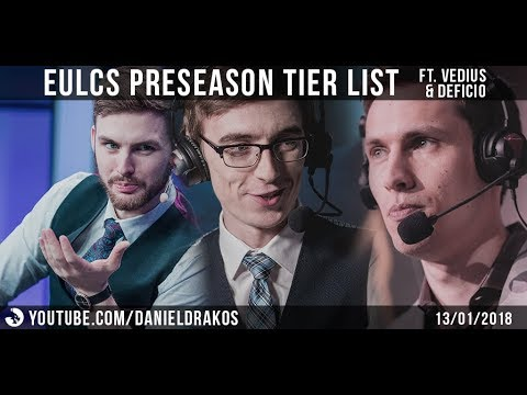 EULCS PRESEASON TIER LISTS w/Vedius and Deficio