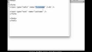 HTML Forms Closed Captioned - Radio Buttons