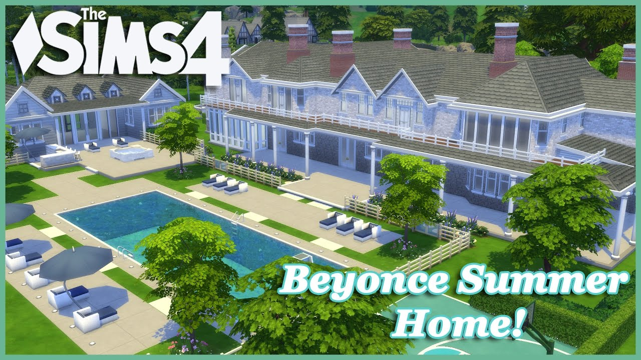 the sims 4 beyonce summer home part 1 youtube