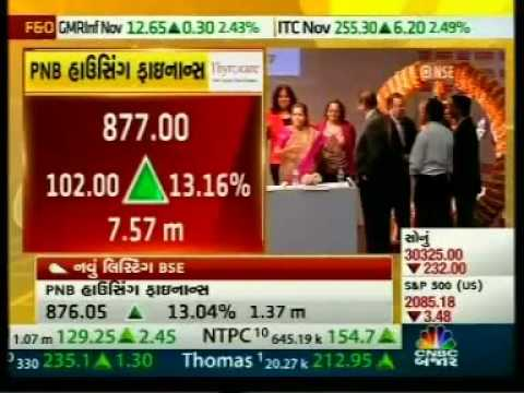 Live telecast of PNB Housing Finance listing ceremony on CNBC Bazaar on 7th Nov, 2016