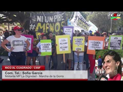 Marcha de la Gorra: Los pibes no son un peligro