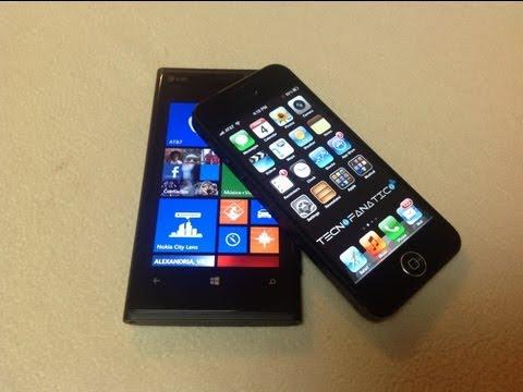 Nokia Lumia 920 versus iPhone 5 comparativas