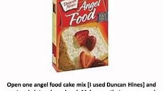 How Bake Pineapple Angel Food Cake