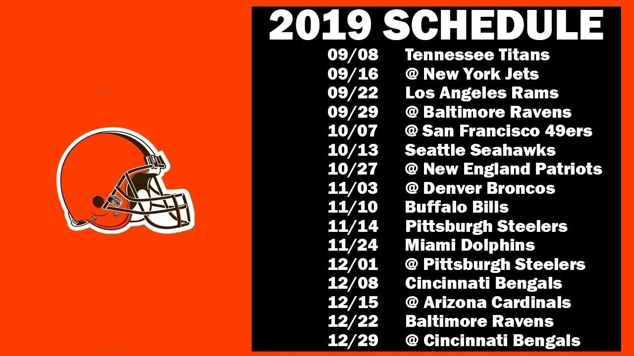 picture relating to Cleveland Browns Printable Schedule known as Cleveland Browns Timetable 2019 Cleveland Browns 2019 Plan  #clevelandbrownsschedule2019