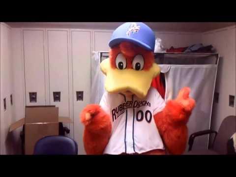 Custom Mascot Costume Akron Rubber Ducks Youtube