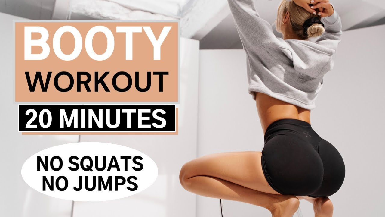 20 MIN. BOOTY WORKOUT// NO SQUATS NO JUMPS - grow your booty/ optional: Ankle Weights    Mary Braun