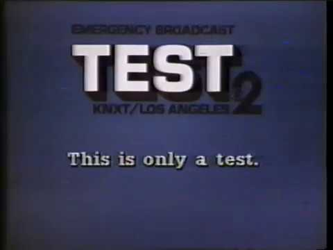 KNXT Los Angeles - Emergency Broadcast System Test (1984)