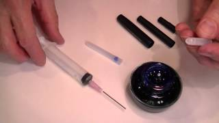 How to Refill a Fountain Pen Ink Cartridge with ink