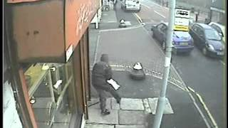 Armed robbers in a burka