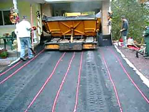 Radiant Heated Blacktop Driveway 2 Of 2 Youtube