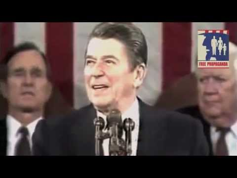 Ronald Reagan slams the Press in 1st State of the Unioin