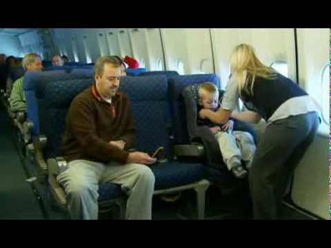 Installing a child restraint system (CRS) on an Airplane - YouTube