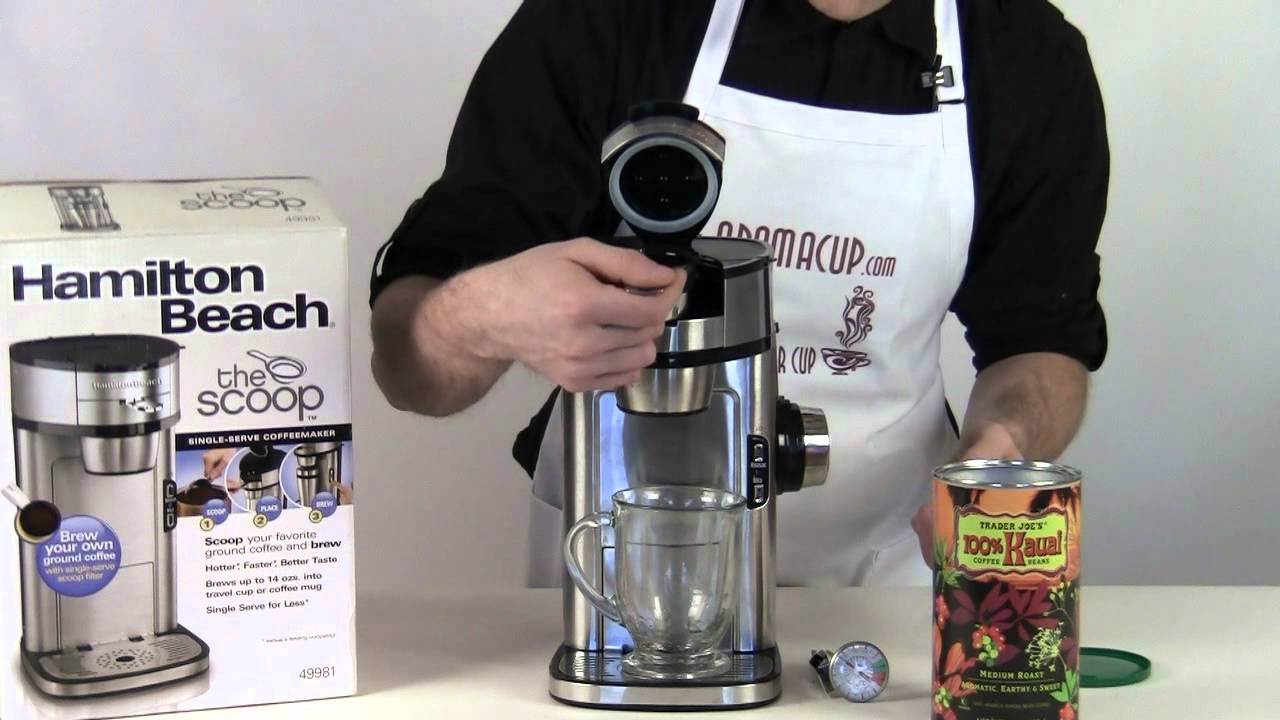 Hamilton Beach Coffee Maker The Scoop Exclusive Review Youtube