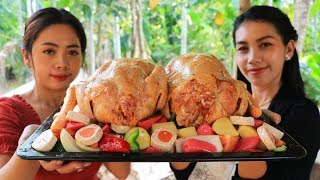 Yummy cooking chicken roasted with vegetable recipe  Natural Life TV