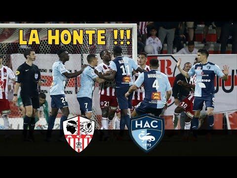 Ajaccio vs Le Havre - BAGARRE générale et insultes racistes, l'ACA sanctionné ?! !