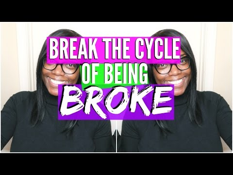 How to break the Cycle of being BROKE | Debt Free Friday!