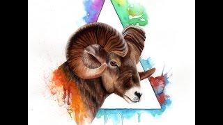 Bighorn Sheep   Speed Painting