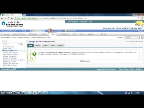 How to Add Other State Bank Accounts In Online Sbi