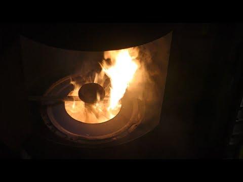 DIY waste oil burner heater for the workshop