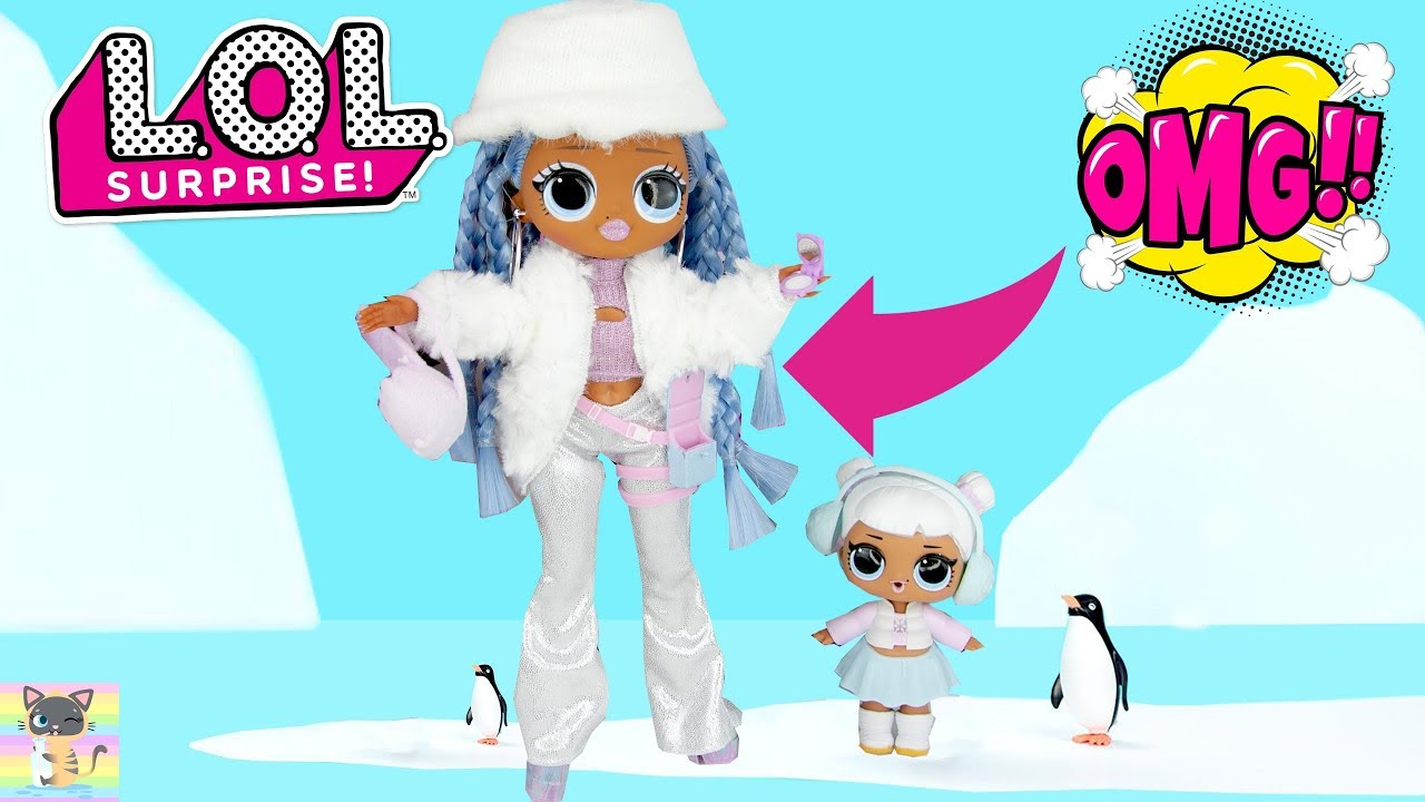 Omg Lol Surprise Winter Disco Snowlicious Little Sister Snow Angel Dolls Toy Unboxing Video Youtube
