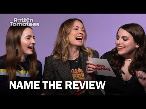 """Olivia Wilde & The 'Booksmart' Cast Play """"Name The Review""""   Rotten Tomatoes"""