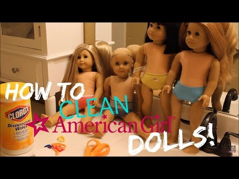 How to Clean an American Girl Doll's Skin! (Removing Marks)