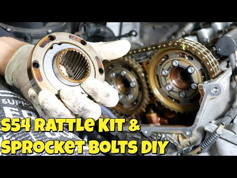 BMW E46 M3 S54 Rattle Kit Repair & Sprocket Bolts DIY (S54