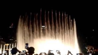 The Dubai Fountain - Show  - Whitney Houston - I Will Always Love You - (by Liliane Palma)