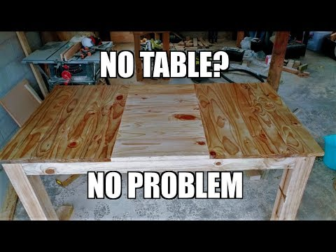 DIY reclaimed lumber dining table - pallets and fence wood