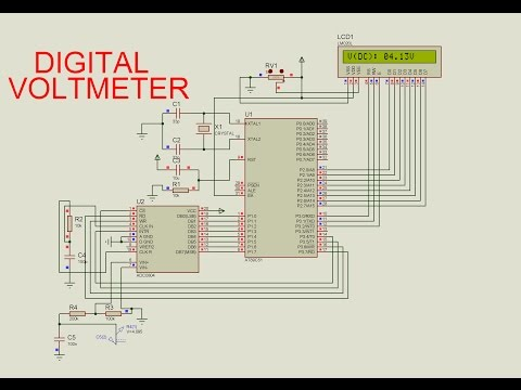 digital voltmeter using 8051 microcontroller Here is the circuit diagram and working of contactless digital tachometer using 8051 microcontroller related post – digital voltmeter using icl7107.