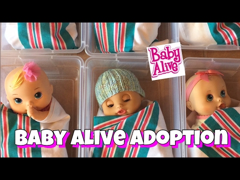 Baby Alive video, going to The baby Alive Adoption Center to adopt a new baby